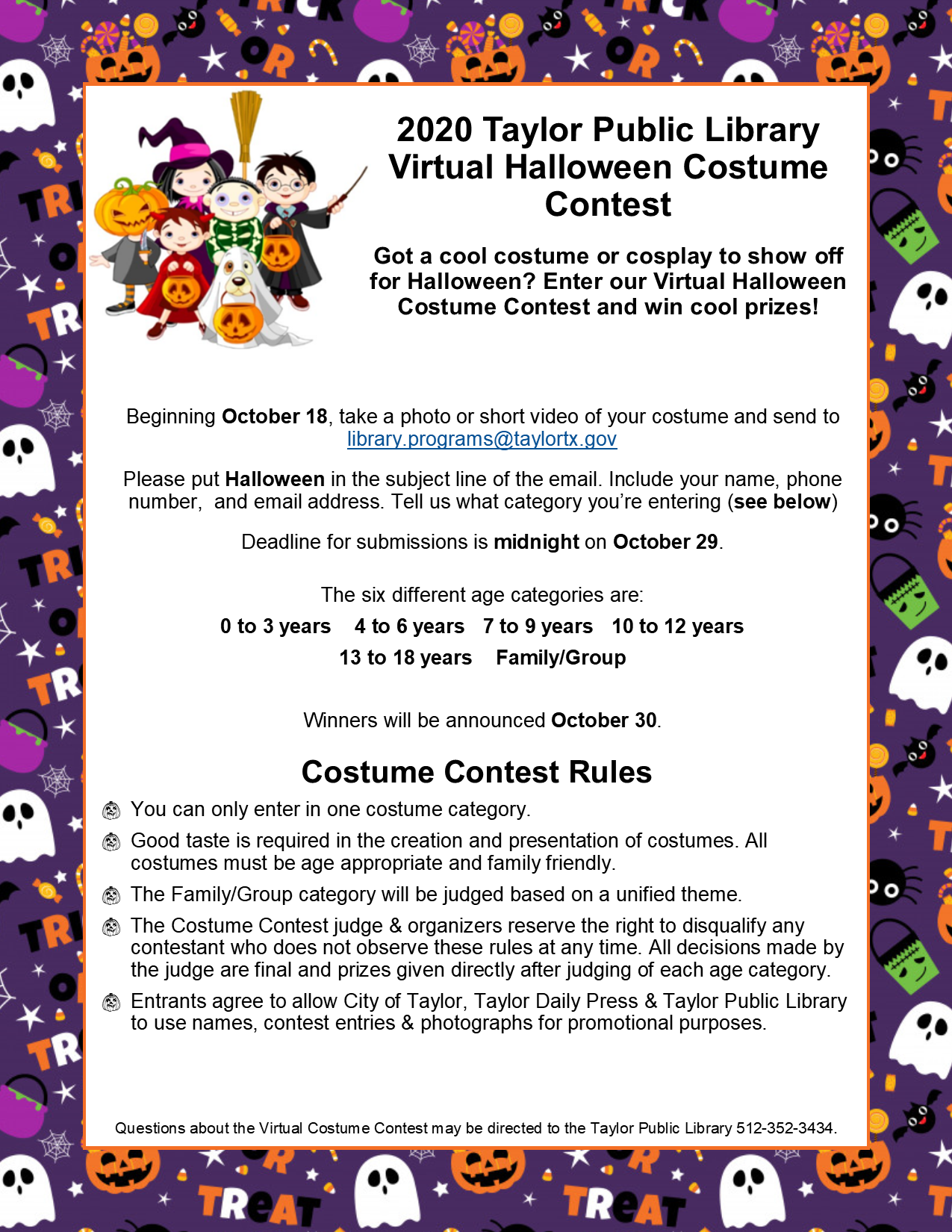2020 Vitual Costume Contest Rules