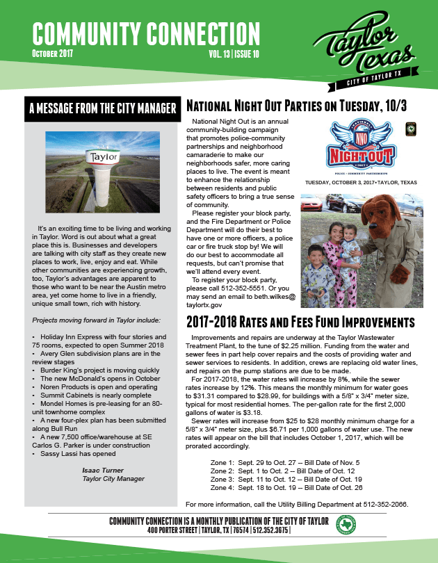 October 2017 Newsletter-Page1