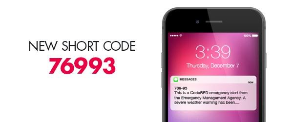 CodeRED short code