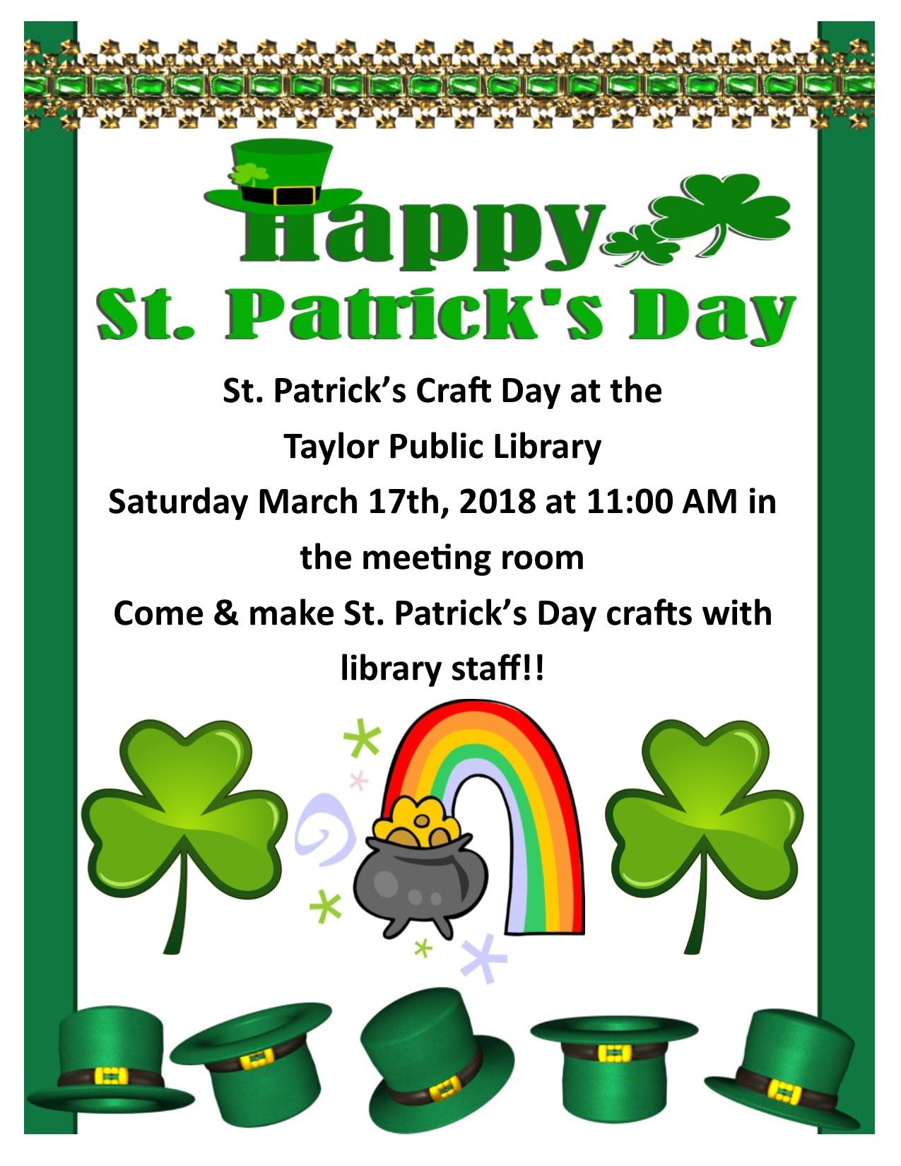 St. Patricks Day Craft Day