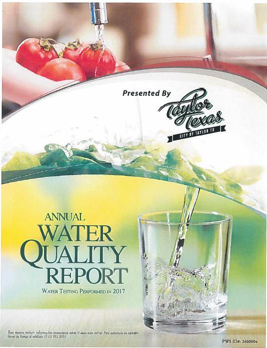 Water Report Cover
