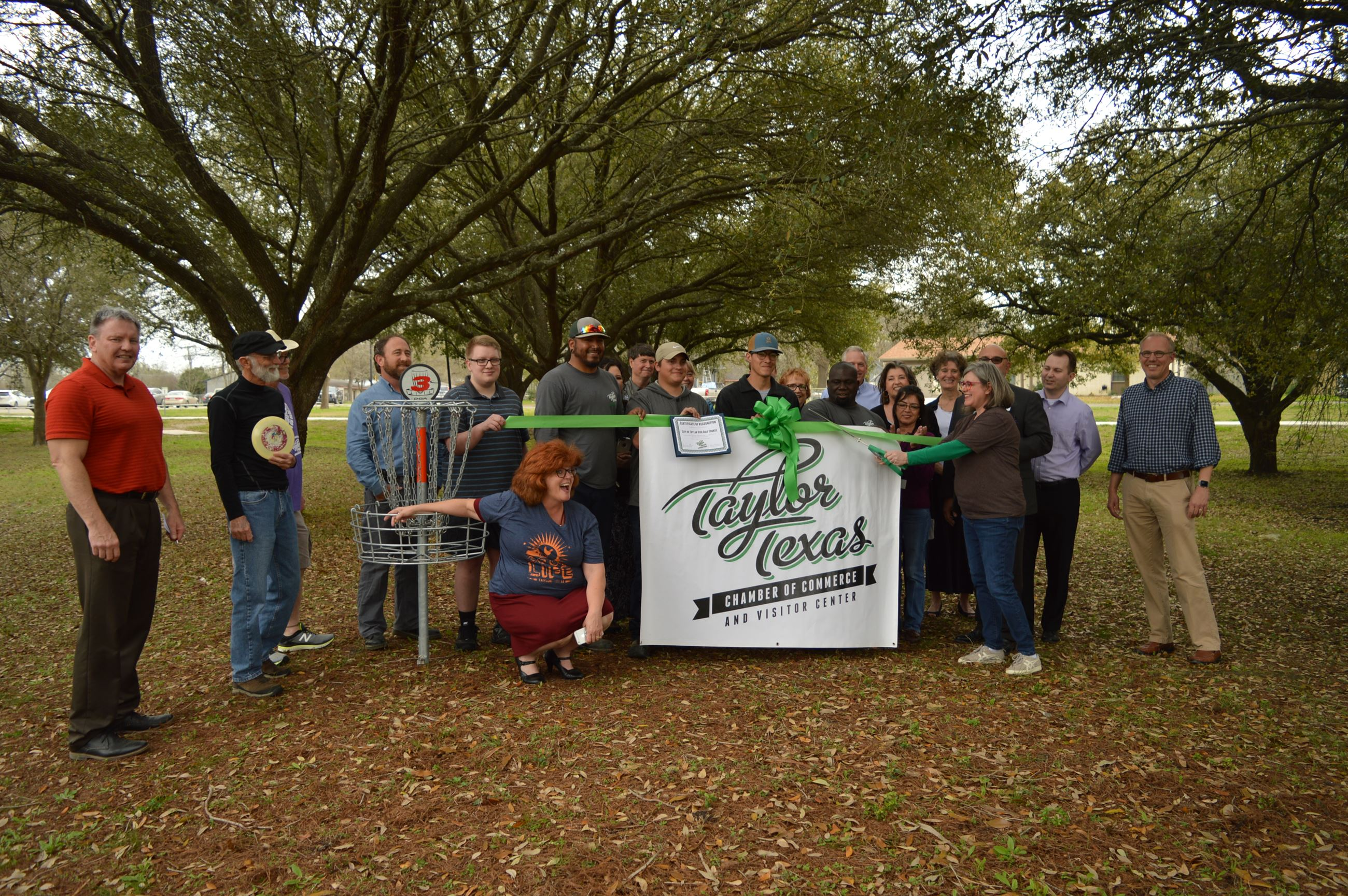 Bull Branch Disc Golf Ribbon Cutting