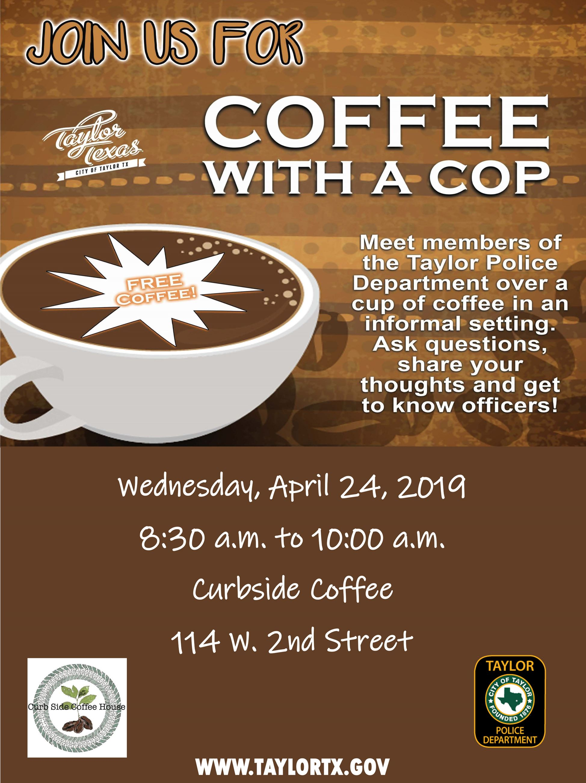 COFFEE WITH A COP APRIL 2019